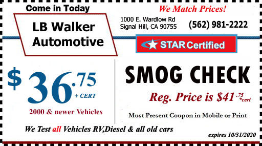 Smog Check Coupons Long Beach Ca